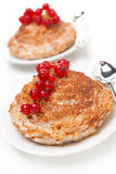 Portioned cottage cheese cakes with cinnamon, close-up Royalty Free Stock Photos