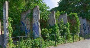 Portions of the Berlin Wall royalty free stock images