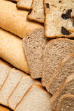 Portions of different bread Royalty Free Stock Images