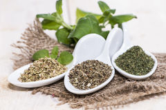 Portions of freh Herbs Stock Photography