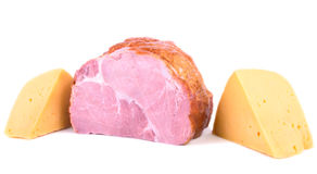 The portions of  ham and cheese Royalty Free Stock Photo