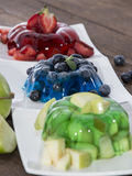 Portions of mixed Jello royalty free stock image