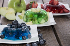 Portions of mixed Jello Royalty Free Stock Photo