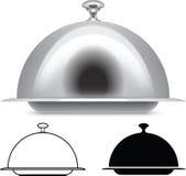 Portionuppläggningsfat Arkivbild