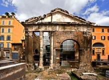 Portique D'Ottavia. Rome. L'Italie. Photos libres de droits