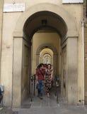 Portique près de Ponte Vecchio à Florence Photographie stock