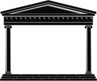 Portique (vestibule), temple antique Image stock