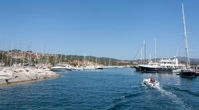 Portisco Harbor Sardinia Italy Royalty Free Stock Images