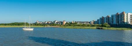 Portishead à la marée haute, Somerset du nord, R-U photo libre de droits