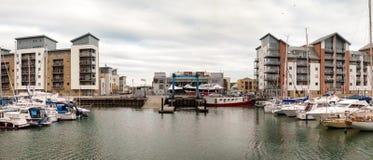 Portishead Quay Marina Stock Photo