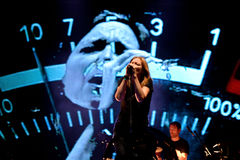 Portishead (trip hop band) in concert at FIB Festival Stock Images