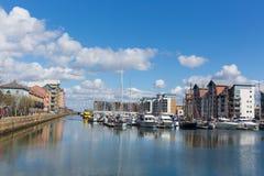 Portisheadjachthaven dichtbij Bristol Somerset England het UK Royalty-vrije Stock Foto's