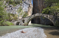 Portitsa gorge in Greece Royalty Free Stock Image