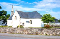 Landscapes and architectures of Brittany. Portivy, France, view of the Lotivy chapel in the suburbs of the country Stock Images