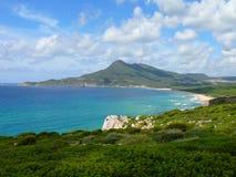 Portixeddu. Beautiful beach in west Sardinia Royalty Free Stock Image