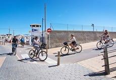 Portixol seaside biking route Royalty Free Stock Images