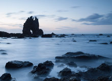 Portizuelo plaża w Asturias, Hiszpania. zdjęcie stock