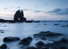 Portizuelo strand i Asturias, Spanien. Arkivfoto