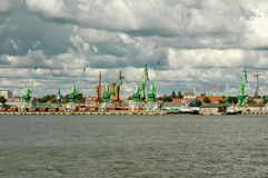 Portkräne Stockbild