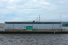 Portlager i den Duluth hamnen Royaltyfri Bild