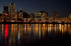 Portland Орегон на ноче. Стоковое Фото