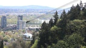 Portland-Antennen-Tram stock footage