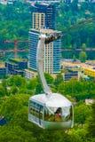 Portland-Antennen-Tram Lizenzfreie Stockfotos