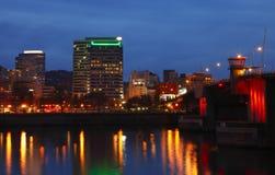 Portland au crépuscule. Images libres de droits