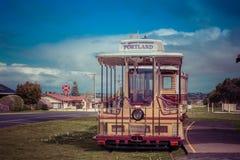 Portland, Australia - 25 settembre 2017: Tram del cavo di Portland alla stazione del memoriale di guerra Immagini Stock