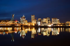 Portland bij Nacht royalty-vrije stock foto