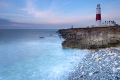 Portland Bill all'alba Fotografia Stock