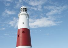 Portland Bill LightHouse. On sunny day Royalty Free Stock Image