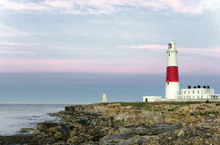 Portland Bill Lighthouse. The lighthouse and obelisk at Portland Bill on the Jurassic Coast near Weymouth in Dorset Royalty Free Stock Image