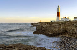Portland Bill Lighthouse. The lighthouse and oblesik at Portland Bill on the Jurassic Coast near Weymouth in Dorset Royalty Free Stock Image