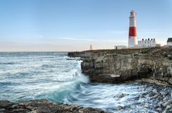 Portland Bill Lighthouse Stock Afbeelding