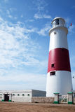 Portland Bill Lighthouse in Dorset. A portrait view of Portland Bill Lighthouse in Dorset Royalty Free Stock Photography