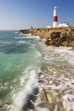 Portland Bill Lighthouse in Dorset, England. The Portland Bill Lighthouse on the Isle of Portland in Dorset, England on a sunny day Stock Photo