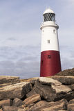 Portland Bill Lighthouse Dorset het UK Royalty-vrije Stock Foto's