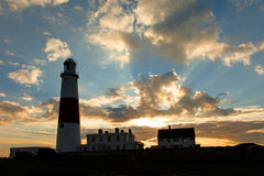 Portland Bill Lighthouse. Dorset Jurassic Coast - World Heritage Site  - England UK Stock Photos