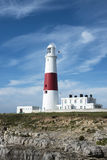 Portland Bill Lighthouse, Dorset, UK. The red and white striped lighthouse at Portland Bill, Dorset, UK Stock Photography