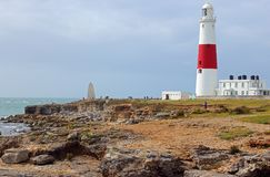 Portland Bill lighthouse. Royalty Free Stock Images