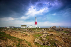 The Portland Bill Lighthouse on the Isle of Portland in Dorset Royalty Free Stock Images