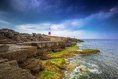The Portland Bill Lighthouse on the Isle of Portland in Dorset Stock Image