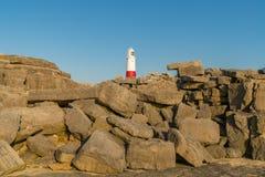 Portland Bill Lighthouse, Jurassic kust, Dorset, UK Arkivbilder
