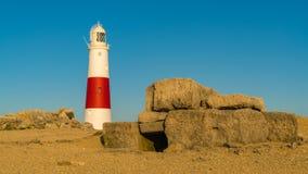 Portland Bill Lighthouse, Jurassic kust, Dorset, UK Royaltyfria Foton