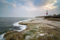 Portland Bill Lighthouse. Is located in England on the Isle of Portland Royalty Free Stock Photography