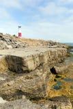 Portland Bill Lighthouse på ön av Portland Dorset England UK Arkivfoto