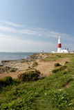 Portland Bill lighthouse on Portland Bill. Dorset Stock Photography