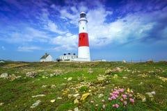 Portland Bill Lighthouse sur l'île de Portland Photographie stock