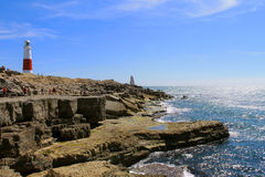 Portland Bill Lighthouse. A view of Portland Bill Lighthouse in Weymouth, Dorset Royalty Free Stock Images
